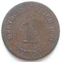 Top! 1 Pfennig 1891 G En fine