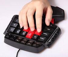 3-Mode LED light Illuminated Gaming Keyboard One Hand Keypad for PC Gamer WOW