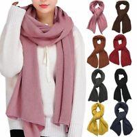 Mens Womens Oversize 100% Acrylic Scotland Blanket Shawl Wrap Solid Scarf Warm