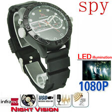 32 GB HD 12 M 1280*720P IR Night Vision Spy Waterproof Watch Cam Mini Camcorder