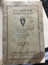 1935 Plymouth Instruction Book 2nd Edition Chrysler Corporation