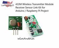 433Mhz Wireless RF Transmitter Module+ Receiver Alarm Super Regeneration Arduino