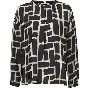 Masai Size XS 8 10 Black Multi Print Dana TOP Casual Soft Comfy Smart £70