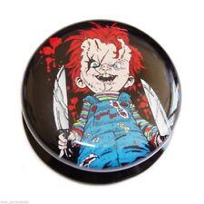 "PAIR-Chucky Doll Acrylic Screw On Stash Plugs 14mm/9/16"" Body Jewelry"
