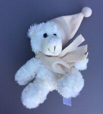 Baby Nighty Night Teddy Bear Soft Toy 6' Comforter Plush With Scarf Hat