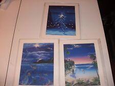"Ann Van Eps Lot of 3 Mermaid and Dolphin Prints Art 8"" x 10"""