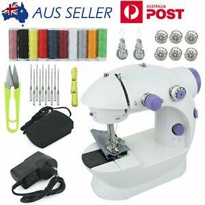 LED Electric Multi-function Portable Mini Desktop Sewing Machine Handheld Kit AU