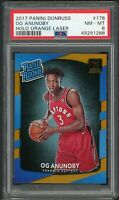 OG Anunoby 2017 Panini Donruss Holo Orange Laser Rookie Card #178 PSA 8