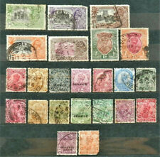 LOT OF 23 OLD BRITISH COLONY STAMPS INDIA, GEORGE V  , USED
