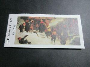 STAMP BOOK, UNUSED COMPLETE, NORWAY, NATIONAL GALLERY ART, 10x1.75k VALUES EXC 1