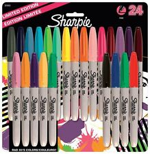 Sharpie Fine Permanent Marker - Assorted Colours, Pack of 24