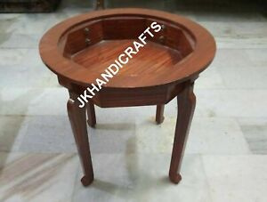 Teak Wood Stand For Marble Coffee Table Top Handmade Made In India