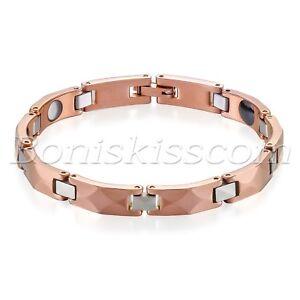 Men's Women's Charm Tungsten Carbide Magnetic Power Bracelet Chain Link 17.7cm