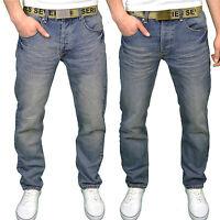 Seven Series Mens Designer Branded Regular Fit Straight Leg Jeans, BNWT