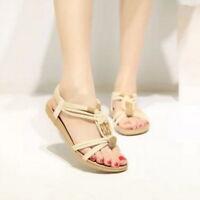 HOT Women Summer Boho Beads Slipper Flip Flops Flat Sandals Beach Thong Shoes CG