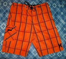 #9059 TIME TO SURF! HURLEY BOARD SHORTS MEN'S 31 EXC. PREOWNED
