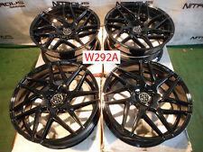 "22"" Blaque Diamond BD3 Concave Bentley Continental GT Flying Spur Wheels W292A"