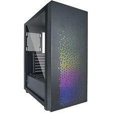AZZA Celesta 340 Gaming-Gehäuse ATX mATX RGB LED Glasfenster MidiTower NightSky