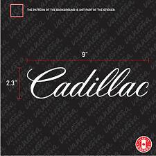 2X CADILLAC logo sticker vinyl decal