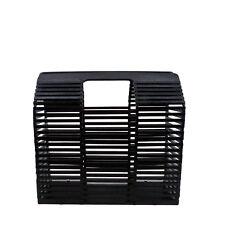 Rouven/THOR 26 Architecture BAMBOO Box Bag/Nero/bambù Borsa Cesto