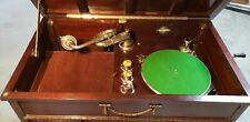 Gilbert wind-up  trumpet resonator horn Mother-of-Pearl soundbox U.K. Gramophone