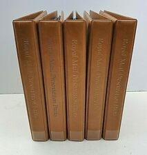 More details for royal mail presentation pack albums light tan full size joblot 5 with inserts