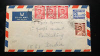 """EXTREMELY RARE THAILAND TO """"FRENCH"""" INDIA """"ONLY 15 KNOWN"""" COVER PONDICHERRY RECE"""