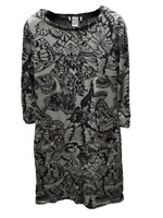 M&S PER UNA WEEKEND Womens Grey Mix Tunic Dress Size 10 12 16 18 Butterfly Print
