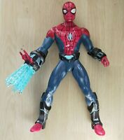 "Marvel Spiderman Ultimate Electro Web Hasbro Lights & Sounds Large 10"" Working"