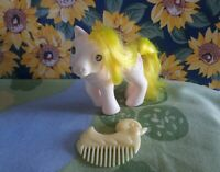 G1 My Little Pony BABY LOFTY Vintage MLP BBE Pegasus Beddy Bye Eyes & Duck Brush
