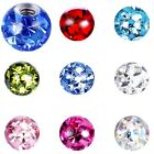 3MM 4MM PIERCING BALL FERIDO SPARE REPLACEMENT SCREW CRYSTAL EPOXY GEM 1.2MM