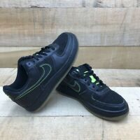 Nike Boys Air Force 1 Sneakers Black 314192-007 Low Top Lace Up Breathable 5Y