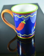 Genuine Sonoma Home Goods Large Ceramic Mug- Chili Peppers- Ships Free