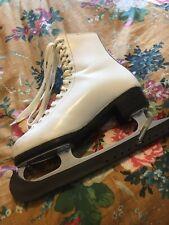 Vintage New English White Ice Skates EU 36