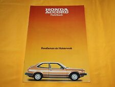 Honda Accord Hatchback 1979 Prospekt Brochure Depliant Catalog Prospetto