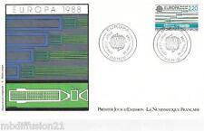 1988**ENVELOPPE*FDC 1°JOUR!!**EUROPA-TRANSPORT ET COMMUNICATION**TIMBRE Y/T 2531