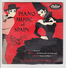 "45 tours LEONARD PENNARIO Vinyle EP 7"" PIANO MUSIC SPAIN - CAPITOL 18235"