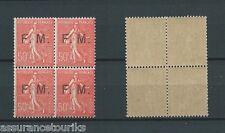 FRANCHISES MILITAIRES - 1929 YT 6 bloc de 4 - NEUFS** MNH - COTE 88,00 €