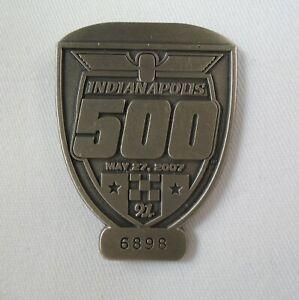2007 Indianapolis 500 Silver Pit Badge Dario Franchitti Andretti Green Racing