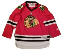 NHL Chicago Blackhawks Home Red Jersey Size Youth L/XL Reebok