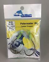 10 Twisted Paternoster Fishing Rigs 80lb 8/0 Octopus Hooks Snapper Gummy Shark