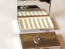 Celtic Shield dr65  Fine English Pewter On Mirrored 7 Day Pill box Compact