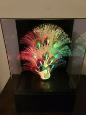 Vintage Fiber Optic Peacock Color Changing Light Up