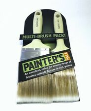 """Painter's Pack 2 Piece Paint Brush Set 1 x 2"""" 1 x 3"""" For Use In All Paints"""