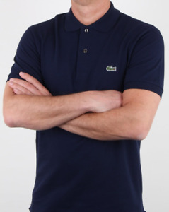 Lacoste Polo Shirt Men's Navy Classic Fit M Short Sleeve New Top Tee