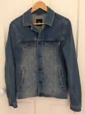 Mens blue denim jacket xs with fade effect Asos vgc hardly worn