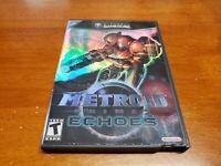 Metroid Prime 2: Echoes (Nintendo GameCube, 2004) CIB Complete TESTED