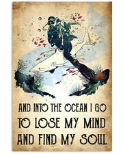 New listing Scuba diving Lose My Mind into the Ocean Vintage Wall Decor Poster no Framed