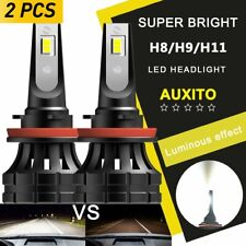 2x AUXITO H11 H8 H9 Car LED Headlight Bright 140W Kit Bulbs 6500K Error Free P9