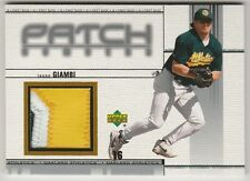 2001 UPPER DECK JASON GIAMBI PATCH NUMBERS GAME-WORN JERSEY PATCH